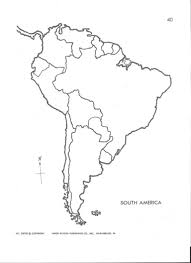 South America Outline Map Save Co At Latin Blank X