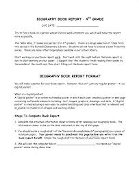 Biography Poster Report Template Literals Templates Sample