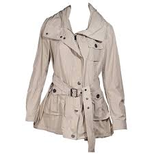 tan burberry brit short trench coat for