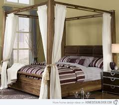 Four post canopy bed frame 1