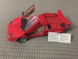 2018 lamborghini countach. exellent 2018 cool amazing franklin mint 1985 red lamborghini countach 124 toy model  sports car 2017 to 2018 lamborghini countach
