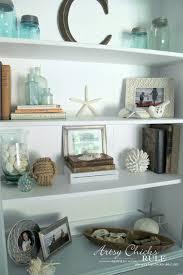 coastal styled bookshelves how to