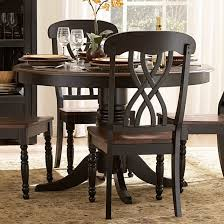dining room dining room modern black and white furniture round table set scenic piece friday chairs