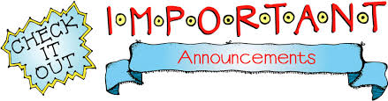 Image result for important announcement clipart