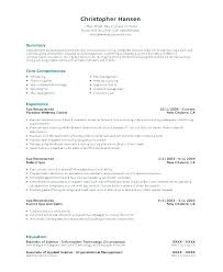 Examples Of Medical Resumes Inspiration Example Of Receptionist Resume Amere