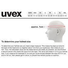 Uvex Helmet Size Chart