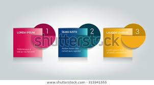 Stock Chart Tutorial 3 Steps Arrow Tutorial Chart Diagram Stock Vector Royalty