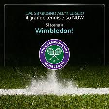 NOW - Ricordate di streammare da casa nelle ore più calde ⚠️ Il torneo di # Wimbledon è su NOW!