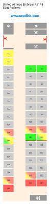 Er4 Embraer Erj 145 Seating Chart United Airlines Embraer Jet Seating Chart