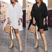 Stylish ZANZEA Summer Dress Vintage <b>Sexy Puff Sleeve</b> Dress ...