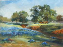 distant horses is one of my recent landscapes celebrating the bounty of texas wildflowers
