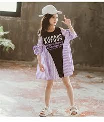 <b>2021 Summer Korean Style</b> Kids Girls Leisure <b>Dress</b> Teenage ...