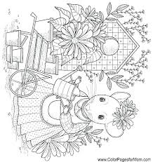 Christmas Scenes Coloring Pages Seaahco