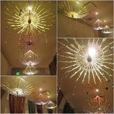 wax paper diy capiz shell chandelier mobile hanger decoration paper chandelier crafts