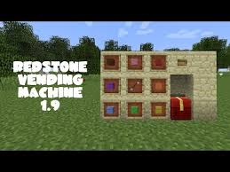 How To Make Vending Machine In Minecraft Pe Adorable Minecraft Tutorial Redstone Vending Machine 4848 YouTube