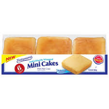 Entenmanns Mini Pound Cakes 925 Oz 6ct For Bertha Pound