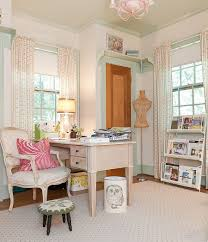 vintage style shabby chic office design. Elegant Home Office Combines Traditional And Shabby Chic Styles [From:  Kristie Barnett / Melanie Vintage Style Design B