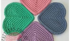 Heart Crochet Pattern Adorable Free Pattern] Cute Simple Heart Shaped Coasters Knit And Crochet Daily