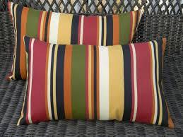 SET OF 2 Indoor Outdoor Lumbar Rectangle Pillows Green