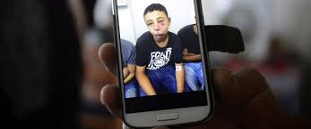 american teen brutally beaten by i police family says abc photo suha abu khdeir shows a mobile phone photo of her son tariq abu khdeir