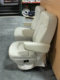 used rv leather look captain chairs for rv furniture