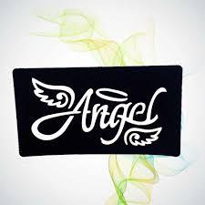 ангельские буквы слова полые трафареты для татуировок для женщин девочек детей