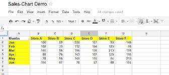 Google Column Chart Example Column Chart Google Apps Script Tutorial