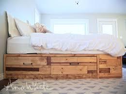 diy storage bed. Brandy Scrap Wood Storage Bed With Drawers Diy T