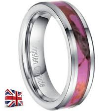 image is loading 6mm p men women tungsten crbide ring inlay