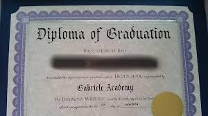 high school diploma name gabrieleacademy com high school diploma