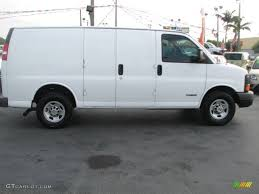 Summit White 2005 Chevrolet Express 2500 Commercial Van Exterior ...