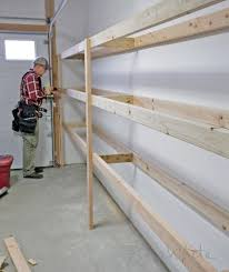 and then untack the second shelf board from the first and you have a perfectly duplicated outer leg for your garage shelving