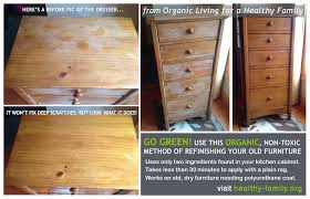 Green Furniture Refinishing Condition Wood Using Kitchen Ingre nts
