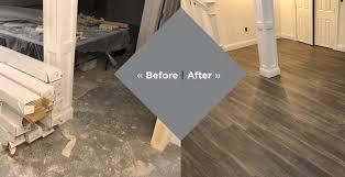 basement flooring before after fairfield county