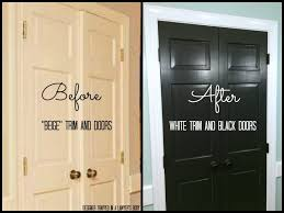 How To how to paint a door with a roller images : Remodelaholic | Decorating With Black: 13 Ways To Use Dark Colors ...
