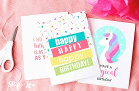 Printable colouring cards for kids to colour for all the major holidays and special occasions like birthdays! Free Printable Birthday Cards Skip To My Lou
