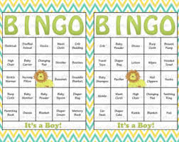 Simple Decoration Baby Shower Gift Bingo Lovely Ideas Cards