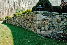 Small Picture wood and stone fence designs stone retaining wall a curved stone