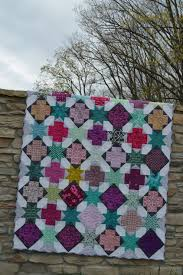 New Pattern On Sale: Star Crossed Quilt - Color Girl Quilts by ... & Star Cross modern patchwork quilt pattern, beginner quilt pattern with  scraps and stars Adamdwight.com