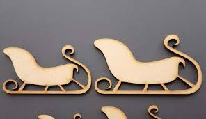 wooden e sleigh eve decorations box blank shape lovely mdf