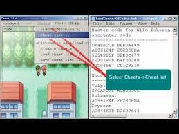 pokemon leafgreen wild pokemon encounter gameshark code