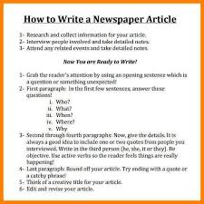 4 Newspaper Article Format Example Envelope Address With Regard