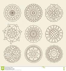 цветки татуировки хны Mehndi индийские иллюстрация вектора