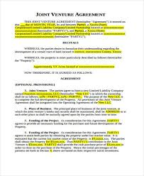 7+ Joint Venture Agreement Form Samples - Free Sample, Example ...