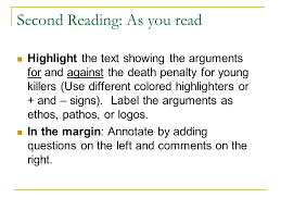 text survey and predictions ppt video online  8 second reading as you highlight the text showing the arguments for and against the death penalty