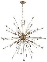 sprigny 10 light chandelier matte gold with amber teak crystal