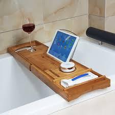 Bath Tray Honana Bx 816 Expandable Bamboo Bath Caddy Wine Glass Holder Tray