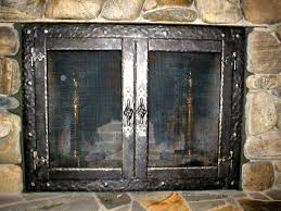 image of rustic fireplace screens handle