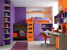 Orange Bedrooms Bedroom Exciting Kid Purple Orange Cool Bedroom Decoration Using