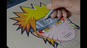 Drawingcolor Drawing Of Naruto In Sage Mode Color Pencils Youtube